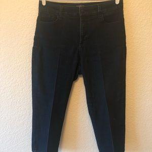 NYDJ darkwash cropped pants w/stars size 12